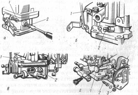 Негерметичность соединения карбюратора с впускным Трубопроводом